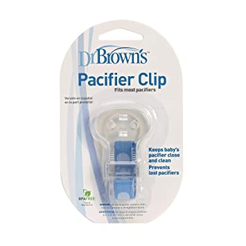 Amazon.com : Dr. Browns Pacifier Clip - Blue : Baby