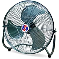 Q Standard High-Velocity Floor Fan - 18in., 4550 CFM, 1/5 HP, Model# 10180