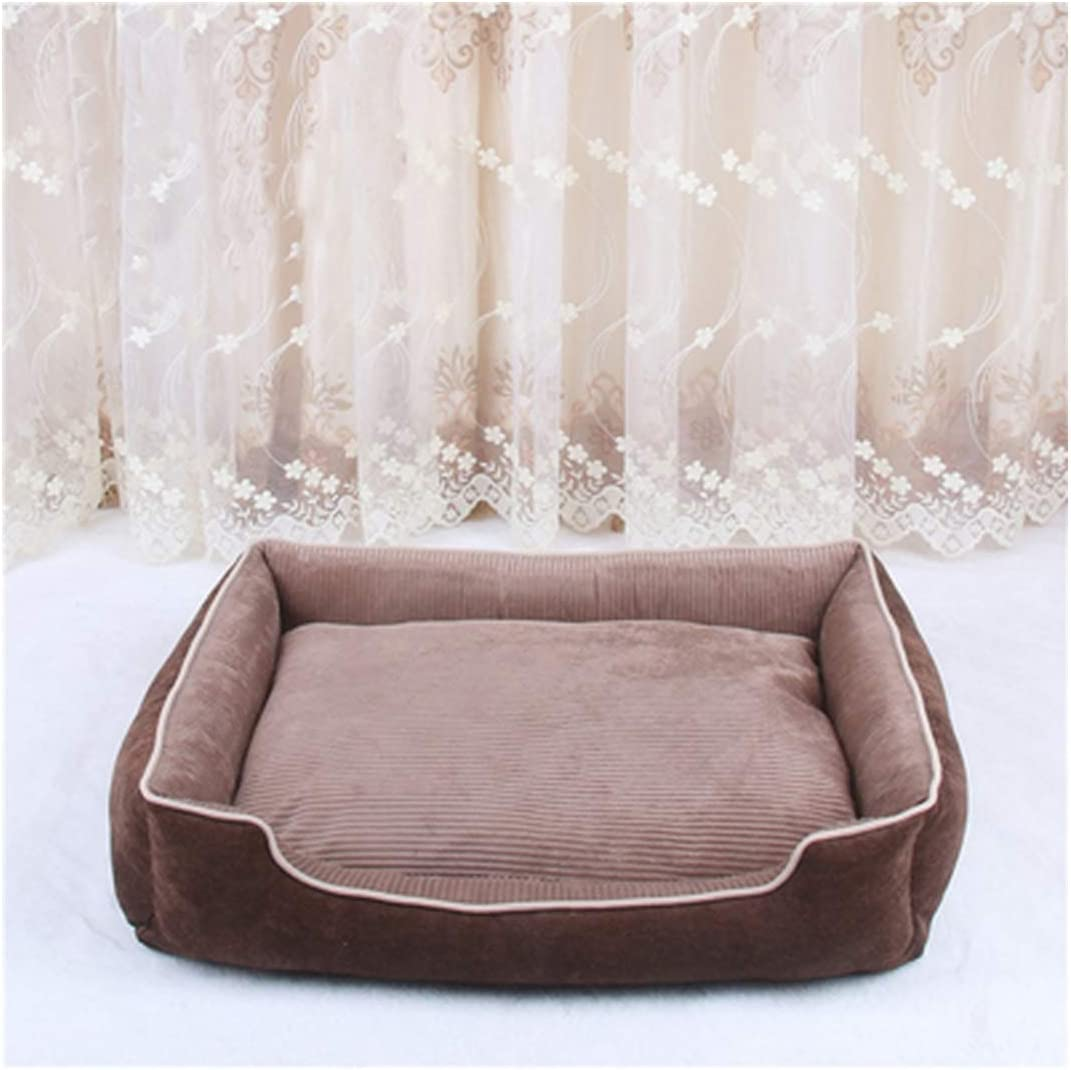 Removable Pet Dog Beds All Seasons Warming Dog Bed House Pets Sofa Mat Kennelt for Puppy Cat Pets Cushion Xs/S/M/L,Coffee,70X52X15Cm