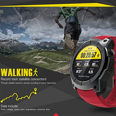 Amazon.com: QUARKJK Smart Watch Sport Waterproof Heart Rate ...