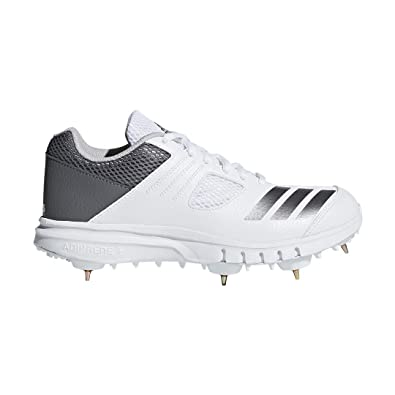 Adidas 2018 Howzat FS Spike Cricket Shoes - Junior - White - UK 2