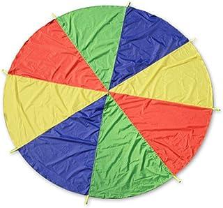 Yorgewd Parachute Parachute, DE jouer avec 8poignées d'intérieur et d'extérieur Couverture de pique-nique Tapis jouer tentes
