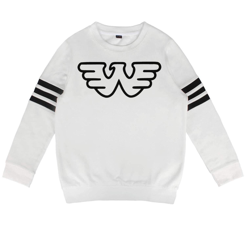 HGT-YUS Boys Girls Crewneck Cotton Long Sleeve Waylon-Jennings-Black-Logo Pullover for Boys and Girls