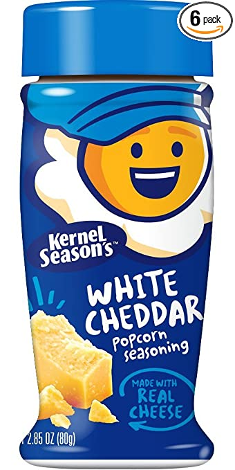Image Unavailable. Image not available for. Color: Kernel Season's Popcorn Seasoning, White Cheddar ...