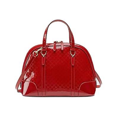 f08735b23bb Amazon.com  Gucci 309617AV12G Nice MicroGuccissima Red Leather Top Handle  Bag  Shoes