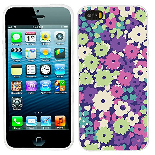 Silicone Soft TPU Floral Pattern Case for iPhone 5C (Green) - 7