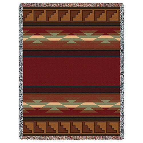 - Pure Country Weavers - Pasqualby Southwest Geometric Woven Tapestry Throw Blanket Made In The USA Size 72 x 54