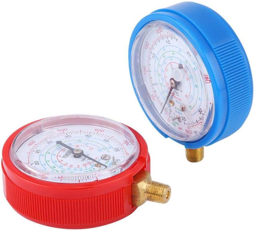 Akozon Kit de manom/ètre haute et basse pression Paire de r/éfrig/érant R410A R134A R22 pour climatiseur