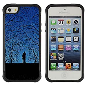 fashion Case Blue Night Forrest Apple iPhone 6 plus