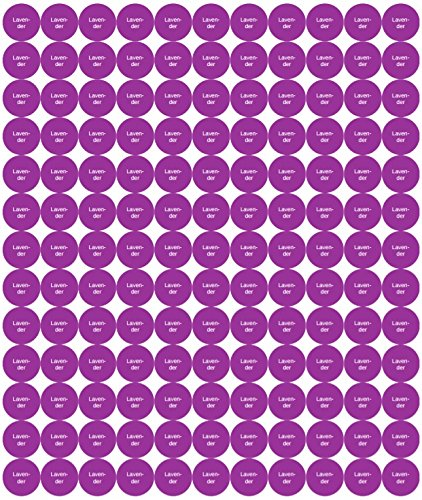 Lavender Essential Oil Bottle Cap Stickers for doTERRA or Young Living 154 Stickers sheet 25 Pack