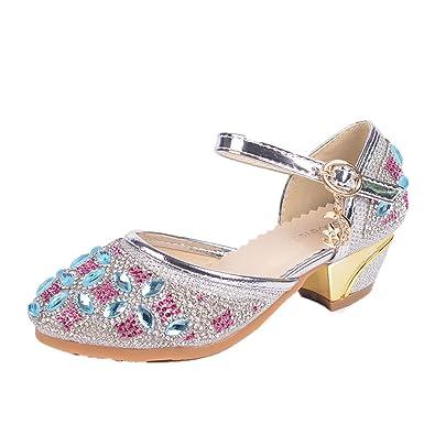 Kinder Madchen Prinzessin Sandalen Kinder Hochzeit Schuhe High Heels