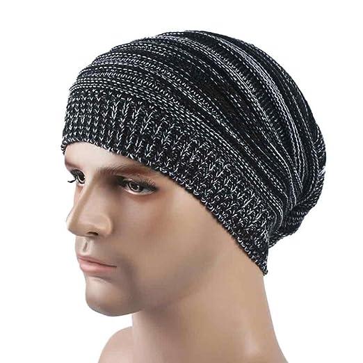 34d32d058 Amazon.com: Fheaven Mens Cashmere Winter Crochet Hat Ski Knit Warm ...