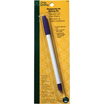 Amazon.com: Dritz Quilting Disappearing Ink Marking Pen, Purple : marking pens for quilting - Adamdwight.com