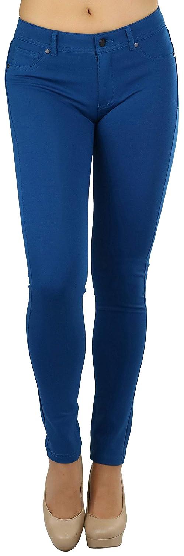 bluee Teal ToBeInStyle Women's 5Pocket Skinny Fit Ponte Pants