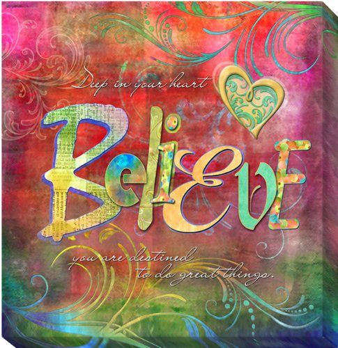 Believe by Connie Haley Gallery-Wrapped Custom Canvas Giclee (Ready-to-Hang) (Haley Wrap Double)
