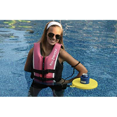 Drink Dinghy - Hands Free Floating Drink Holder -- Lakes, Pools, and Rivers (Yellow, Two Pack Drink Dinghy): Toys & Games