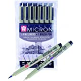 Pigma Micron Set of 6 Fineliners & 1 Brush Pen