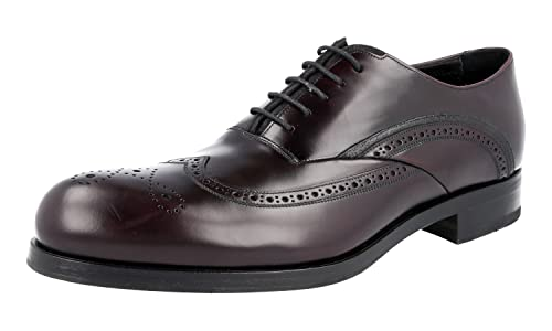 Men's 2EE201 B4L F0397 Full Brogue Leather Business Shoes