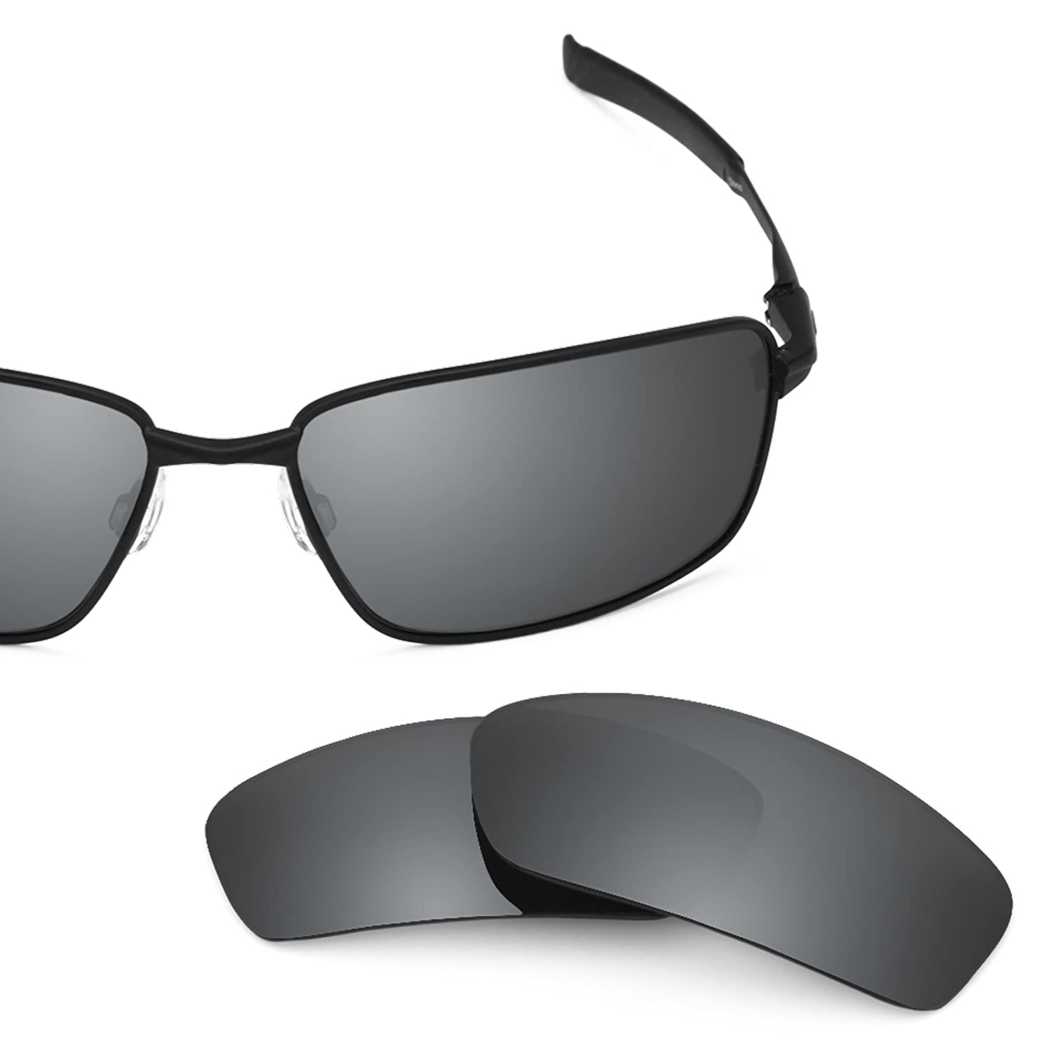 84f5f954473 Amazon.com  Revant Polarized Replacement Lenses for Oakley Splinter Black  Chrome MirrorShield  Sports   Outdoors