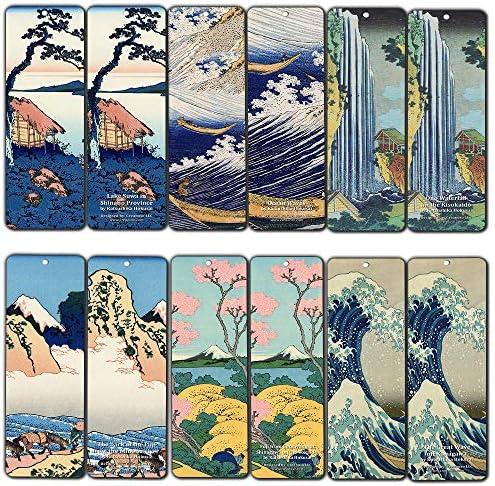 Creanoso Katsushika Hokusai Bookmarks 60 Pack product image