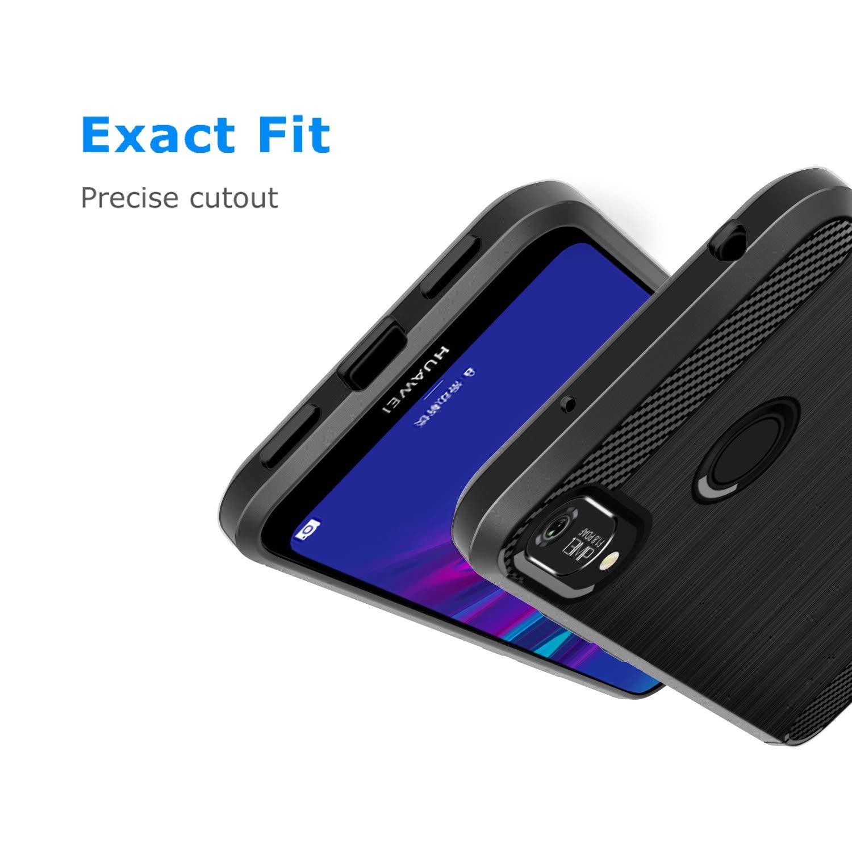 Coque-Etui-Housse-Silicone-brossee-Fibre-de-carbone-Noir-Protection-Huawei miniature 65