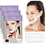 ELAIMEI V Shaped Slimming Face Mask 4 Packs, Double Chin Reducer Sleeping Mask Facial Face Mask for Firming and Tightening Sk