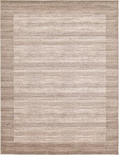 Unique Loom Del Mar Collection Contemporary Transitional Beige Area Rug (10' 0 x 13' 0)