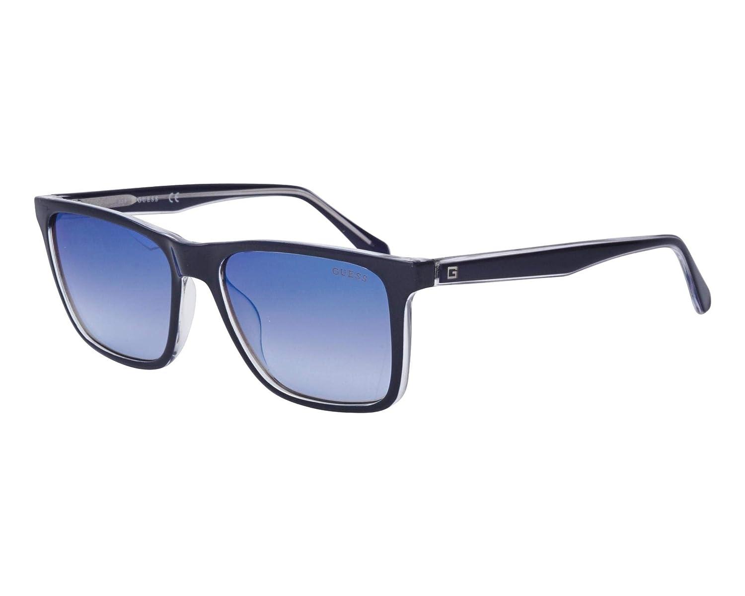 0b510e6a35e 6935 Blue Crystal Guess 92w gu Transparent Sunglasses Grey PORvxg