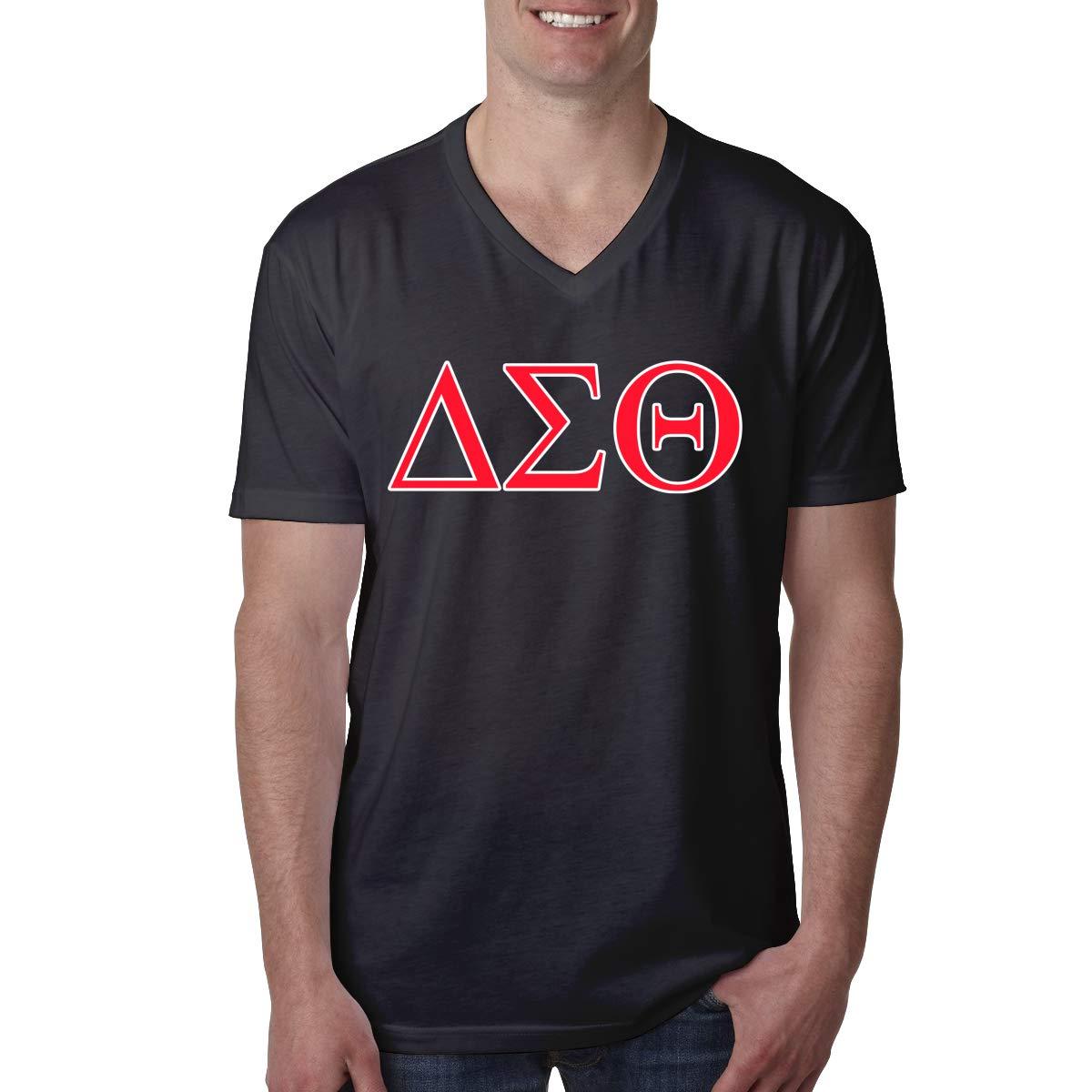 Delta Sigma Theta Sorority S T-Shirt Adult Short Sleeve V Neck T Shirts Hipster Top S-XXL
