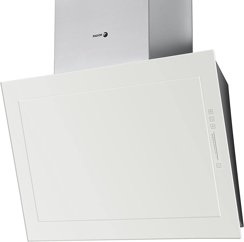 Fagor 3CFT-TILEAB - Campana decorativa 90cm blanco inoxidable clase de eficiencia energe: Amazon.es: Grandes electrodomésticos