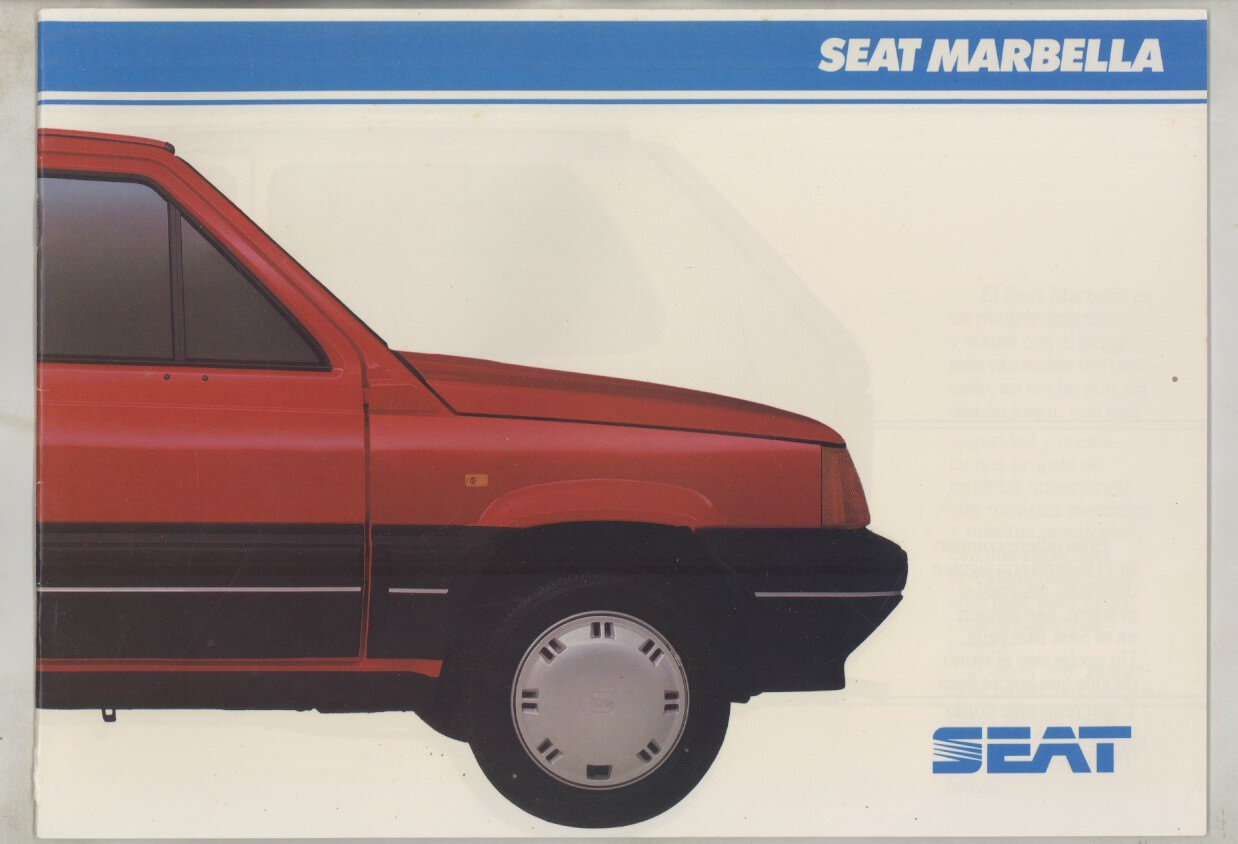 Amazon.com: 1988 Seat Marbella Brochure Spanish: Entertainment ...