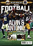 New Current Beckett Football Monthly Price Guide Magazine Card Value March 2018 Antonio Brown & Alvin Kamara