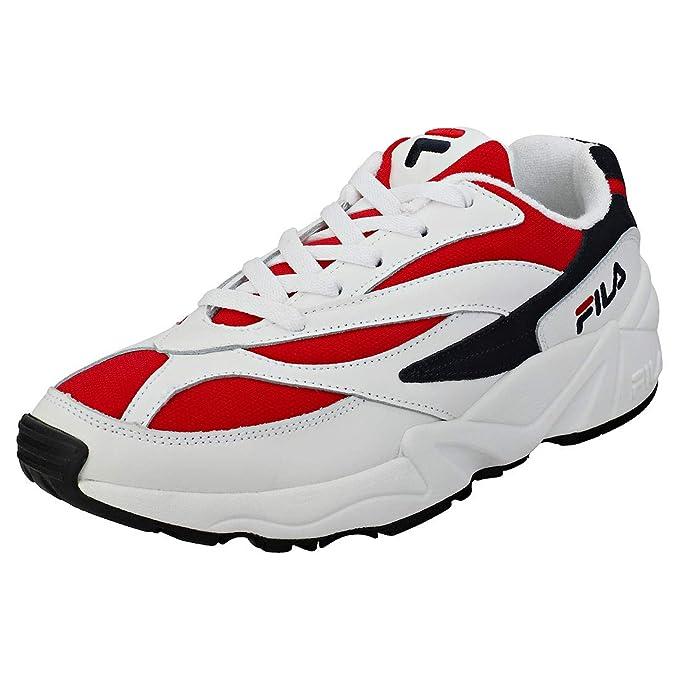 Fila Vintage Hombre Zapatillas de Deporte Bajas V94M, Blanco: Amazon.es: Ropa y accesorios