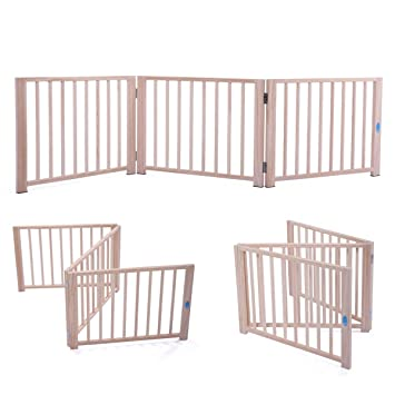 Amazon Com Jaxpety 17 5 Baby Gate Indoor Fence Barrier Standing