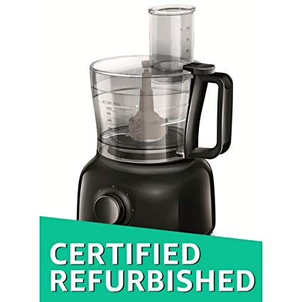(Certified REFURBISHED) Philips Daily Collection HR7629/90 650-Watt Mini Food Processor (Black)