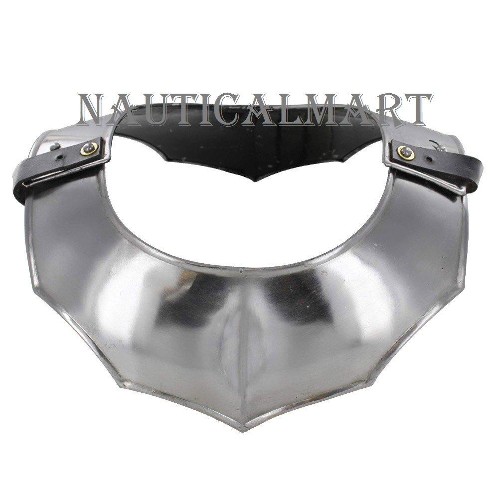 NAUTICALMART Medieval 18 Gauge Steel Plate Armor Gorget Neck Protector by NAUTICALMART