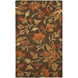 Safavieh Blossom Collection BLM861A Handmade Brown and Multi Premium Wool Area Rug (4' x 6')