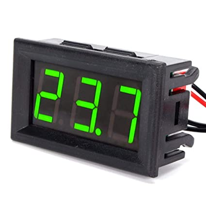 Temperature Instruments - Dc 12v Temperature Monitoring Tester Digital Thermometer 50 110c Sensor Detector With Metal