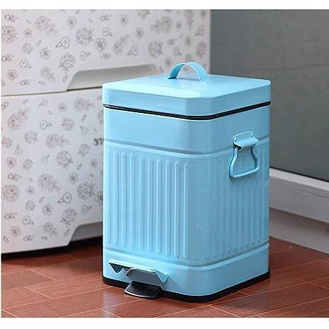 Oevina Sala de Estar Dormitorio Basura Cuadrada con Cubo de ...