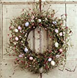 """20"""" Easter Egg and Berries Wreath"""
