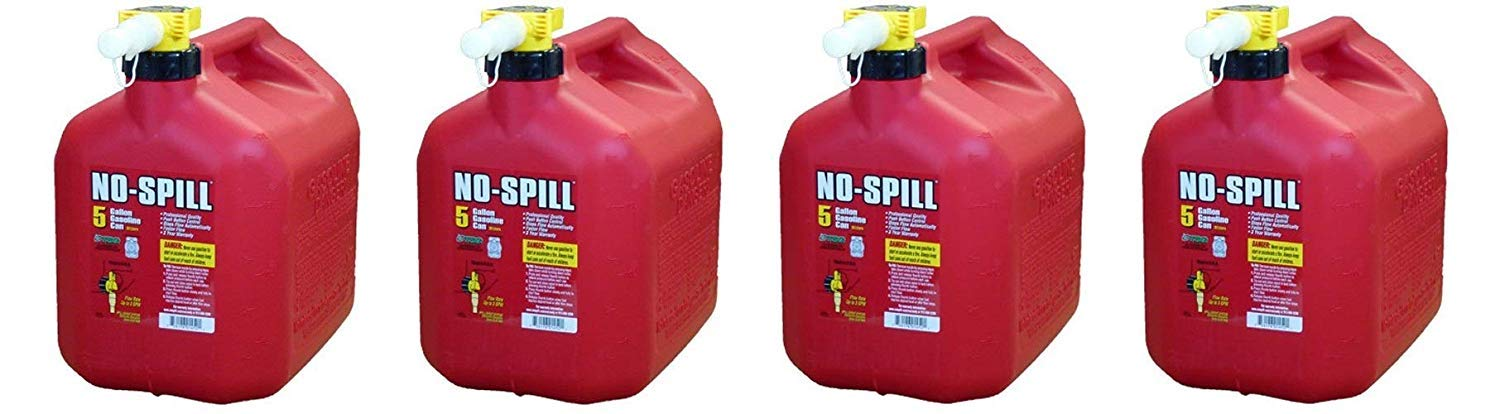 No-Spill 1450 5-Gallon Poly Gas Can (CARB Compliant) (Pack of 4)