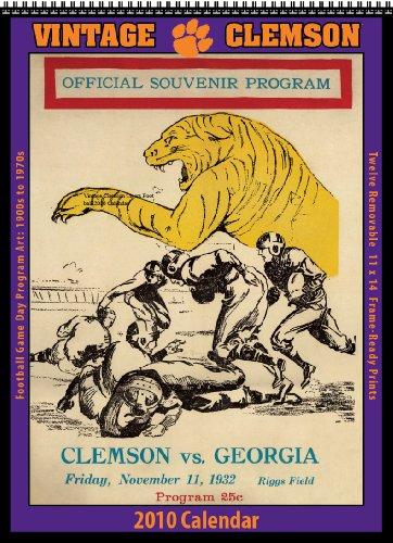 Vintage Clemson Tigers 2010 Football Program Calendar