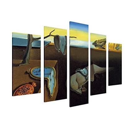 Alonline Art - The Persistence of Memory Clock Salvador Dali Framed Stretched Canvas (100%