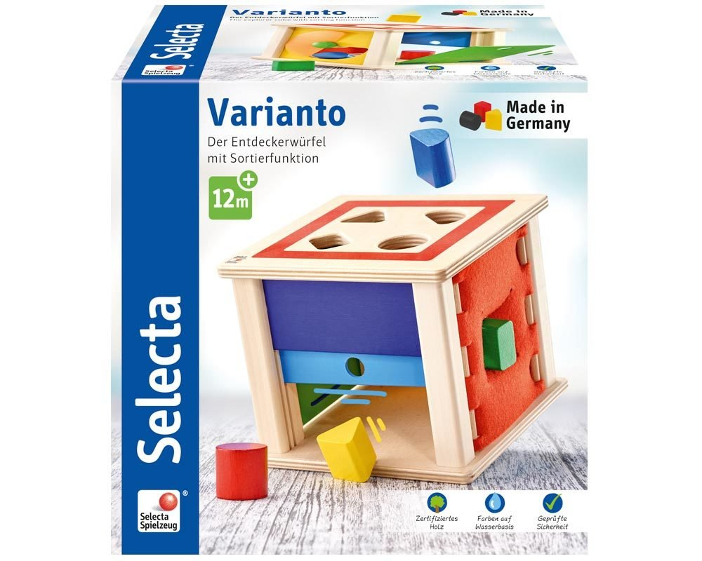 Selecta 62019 varianto, l' ordinamento e Gioco a Incastro in Legno, 15 cm
