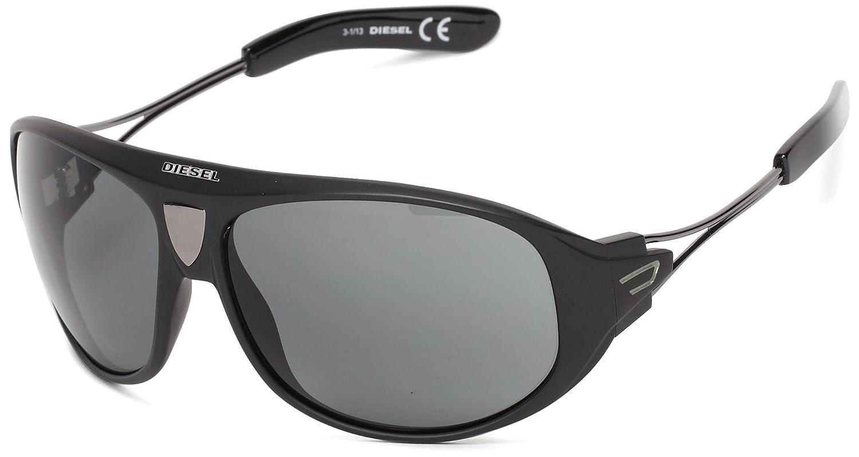 Diesel Unisex Sonnenbrille SUNGLASSES DL0052 01A , Farbe: Schwarz