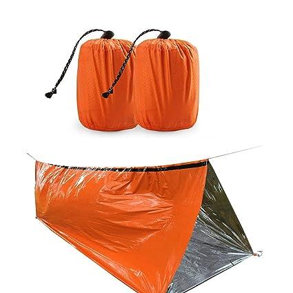 ShenHO Saco de Dormir de Supervivencia de Emergencia, Ligero y Resistente al Agua (Orange