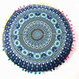 Pillow Case,Neartime Indian Mandala Floor Pillows Round Bohemian Review and Comparison