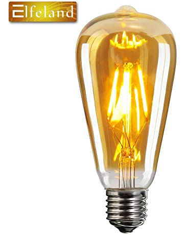 Vintage Edison LED Bombilla,Elfeland® E27 Bombilla Decorativa Antique LED Filament Lamp Reemplaza a