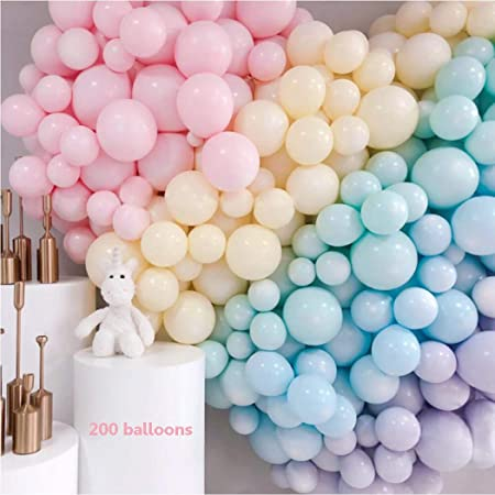 2 Balloon Table Stands for Birthday Wedding Christmas Baby Shower 2 Balloon Strips Balloons 2 Balloon Pumps 132 Pcs 10 and 18 Macaron Balloons Pastel Colorful Party Balloons Decoration Kits