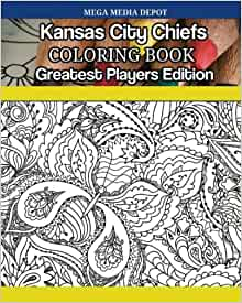 Kansas City Chiefs Nfl Adult Coloring Book Overstock 18012032